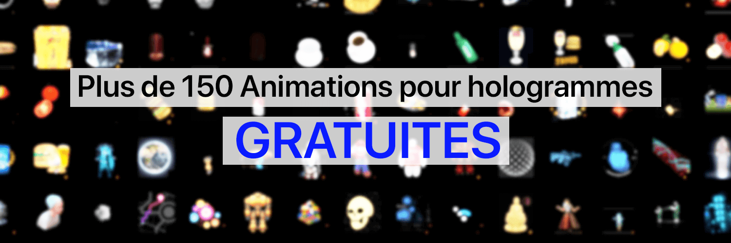 Animation hologramme gratuiite